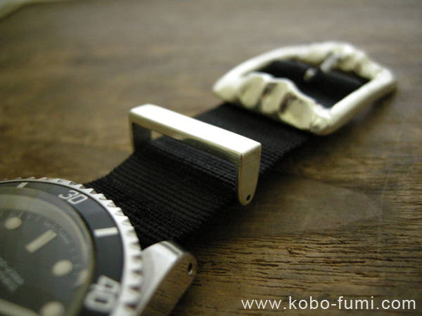 時計ベルト用シルバー製パーツ特注製作の作例