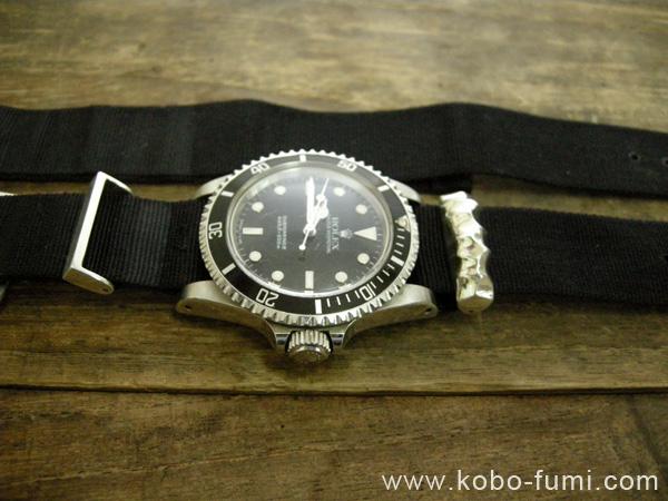 時計ベルト交換シルバー製オリジナルパーツ製作例